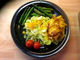 29.4.16 - Kartoffelgratin,grüner Spargel,Fenchelsalat (21)
