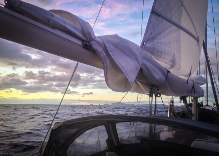 stormy sailing in the bay of islands new zealand