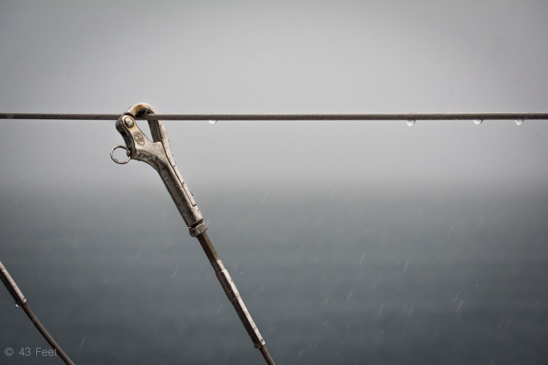 rain on a sailboat, sv cavalo
