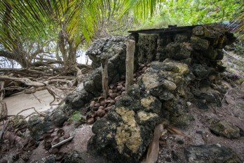 WWII Japanese bunker Maloelap, Marshall Islands