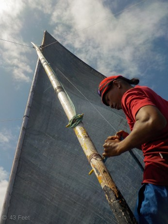sailing canoe, ailuk atoll, marshall islands