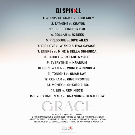 ALBUM : DJ Spinall – Grace