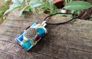 Garnet Pendant – Orgonite® – OCEAN Heart Chakra2