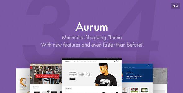 Aurum v3.4.2 - Minimalist Shopping Theme