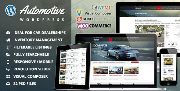 Automotive v8.2 - Car Dealership Business WordPress Theme