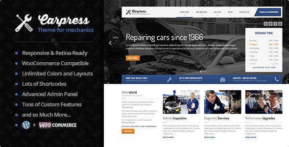 Carpress v1.11.8 - WordPress Theme For Mechanic Workshops