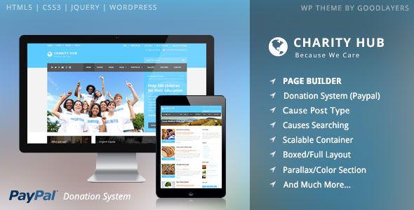 Charity Hub v1.20 - Charity / Nonprofit / Fundraising WP