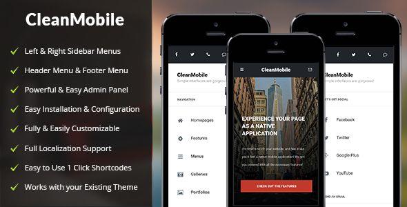 Clean Mobile v1.1 - Mobile WordPress Theme