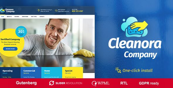 Cleanora v1.0.0 - Cleaning Services Theme
