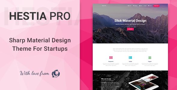 Hestia Pro v2.1.0 - Sharp Material Design Theme For Startups