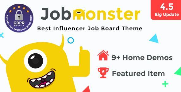 Jobmonster v4.5.1.8.6 - Job Board WordPress Theme