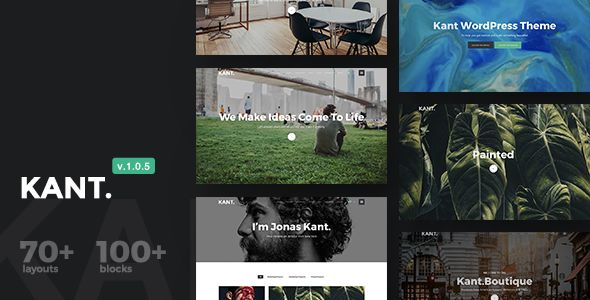 Kant v1.0.5 - A Multipurpose WordPress Theme For Startups
