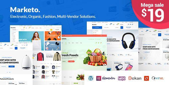 Marketo v1.2.0 - ECommerce & Multivendor Theme