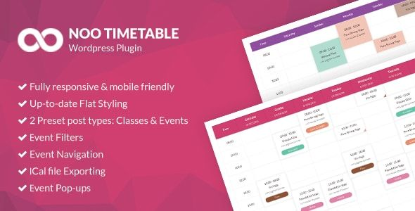 Noo Timetable v2.0.5.2 - Responsive Calendar & Auto Sync