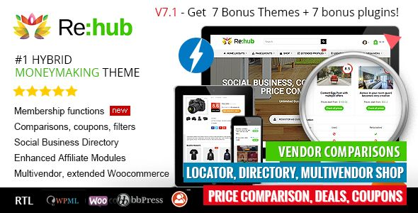 REHub v7.1.9.3 - Price Comparison, Business Community
