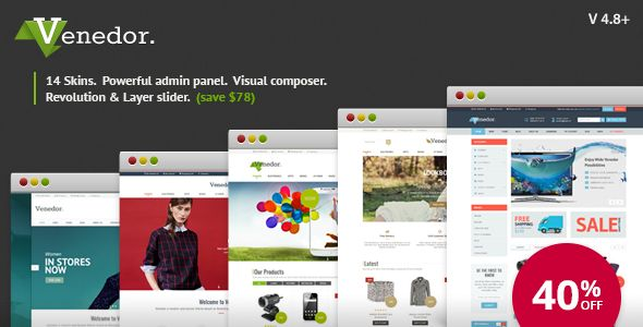 Venedor v2.6.0 - WordPress + WooCommerce Theme