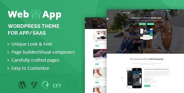 Webapp v1.2 - App - Saas WordPress Theme