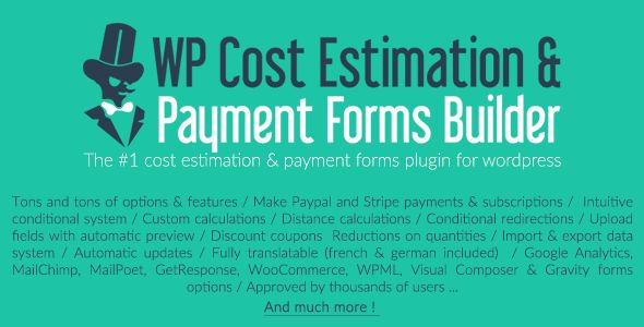 WP Cost Estimation & Payment Forms Builder v9.632