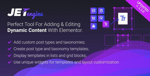 JetEngine v1.1.1 - Adding & Editing Dynamic Content