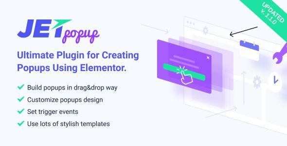 JetPopup v1.2.1 - Popup Addon For Elementor