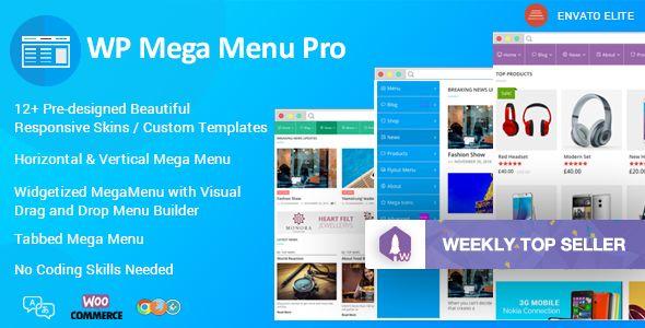 WP Mega Menu Pro v1.1.2 - Responsive Mega Menu Plugin