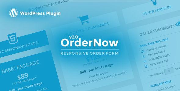 OrderNow v2.0.1 - Responsive Order Form WordPress Plugin