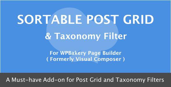 Visual Composer - Sortable Grid & Taxonomy filter v3.1.0