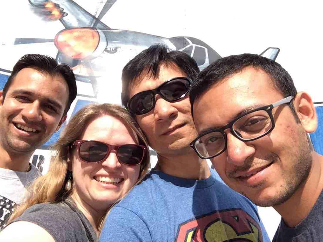 Vineet, Bonnie, Trinity, and Abhinav in NC
