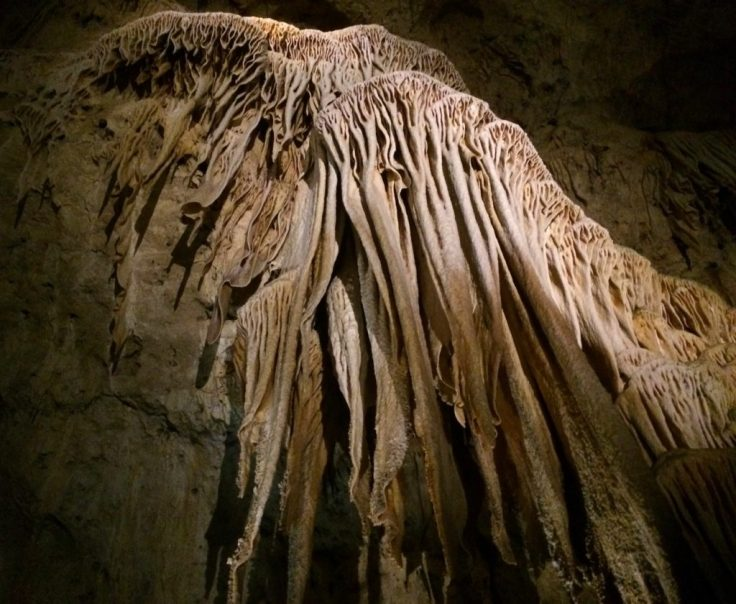 Carlsbad Caverns formation in New Mexic