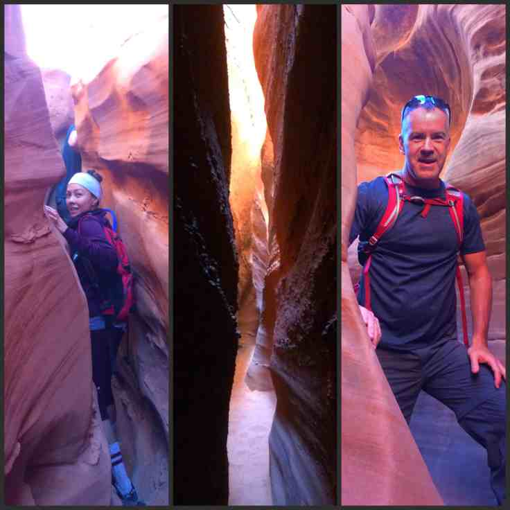 Narrow slot canyons of spooky gulch