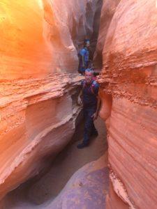 Gene in the Utah slot canyons
