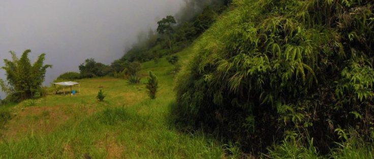 Mountain top above Refugio Solté
