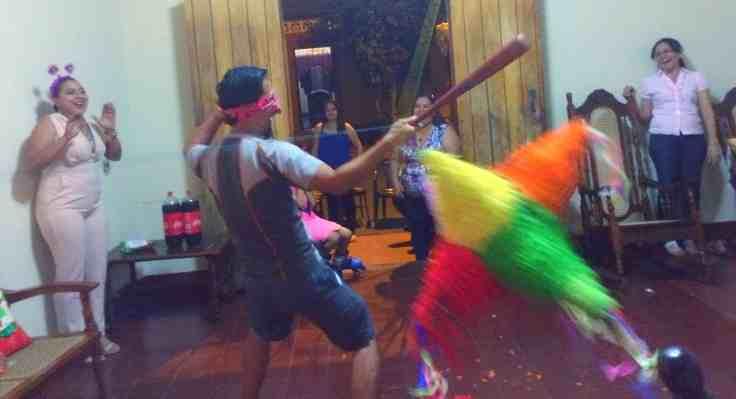 Pinata fun. A New Years Eve Leon tradition.