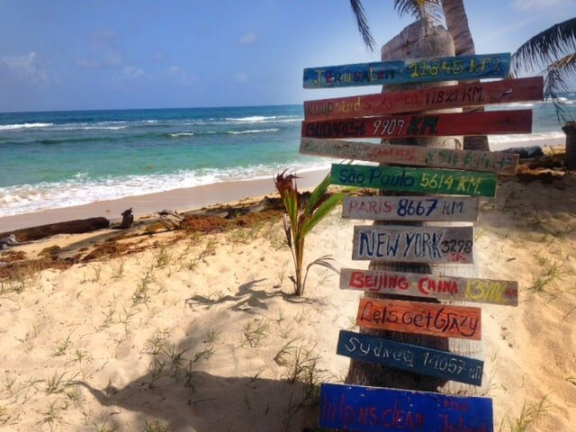 signs on the beach