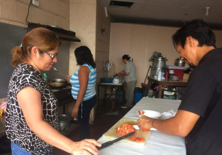 making lunch for the Forgotten people