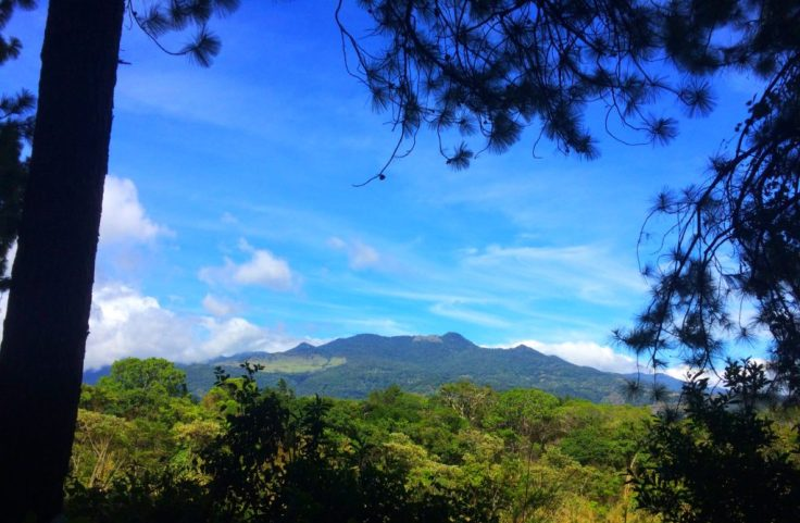 View of Boquete Panama from the trail