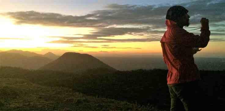 Sunrise on Volcan Telica near Leon Nicaragua