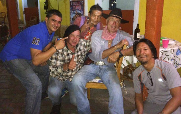 Roger and friends at the Cabalgata