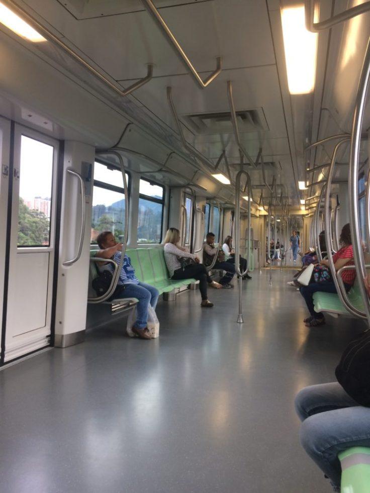 Clean metro in Medellin