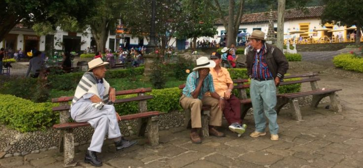 town center in Jardín Colombia