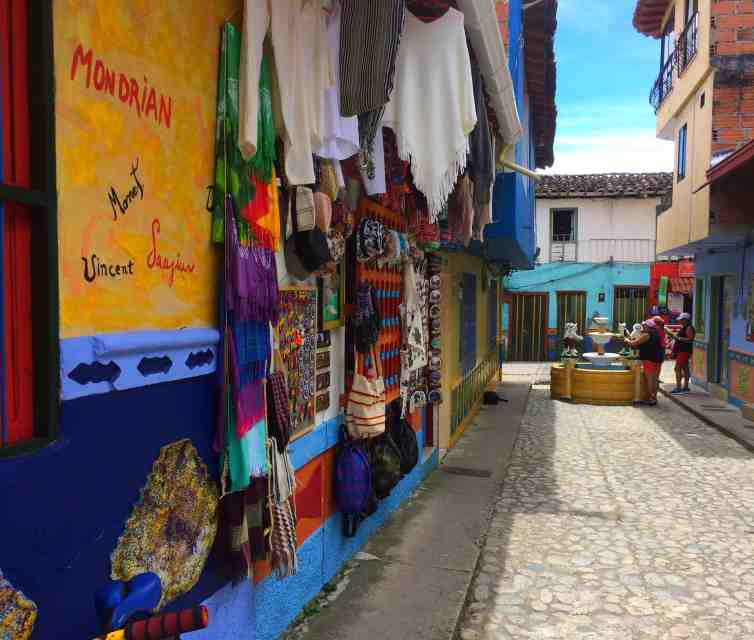 Streets of Guatape Colombia