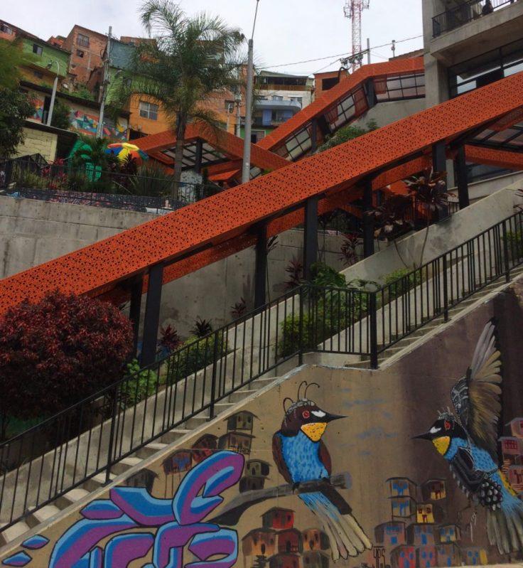 Covered escalators of Comuna 13