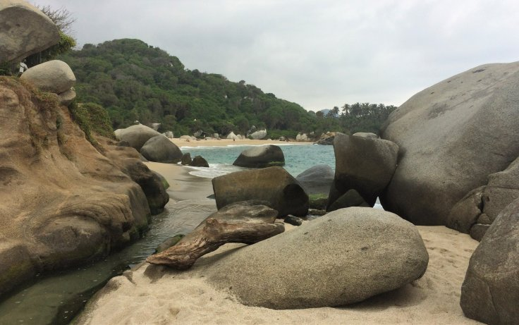 Beach in Tayrona National Park north of Cartagena, Colombia