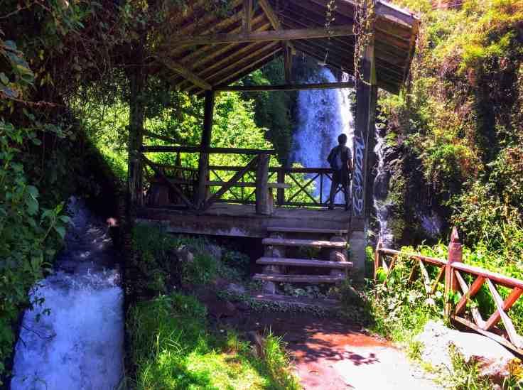 waterfall in Otavalo,Otavalo hiking
