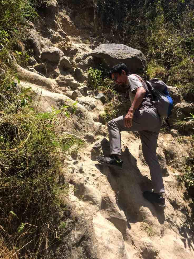 scrambling in Otavalo,Otavalo hiking