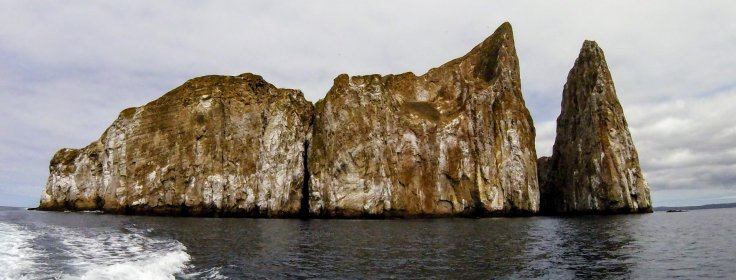 View of Kicker Rock from our boat on a Day trips in Galapagos