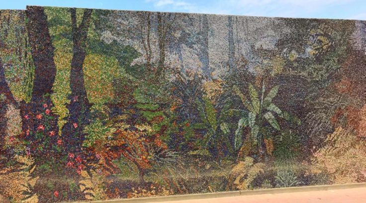 Mural depicting the history of Peru
