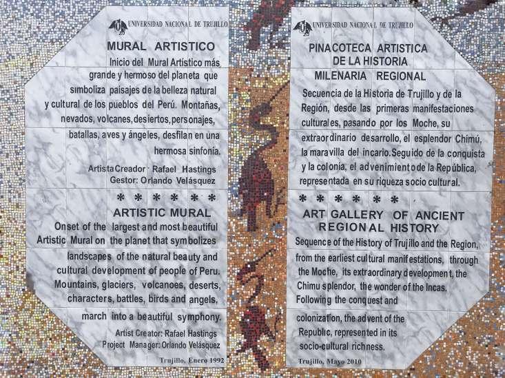 Mural depicting Peru History
