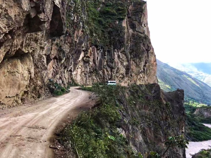 Narrow road to the Machu Picchu hike
