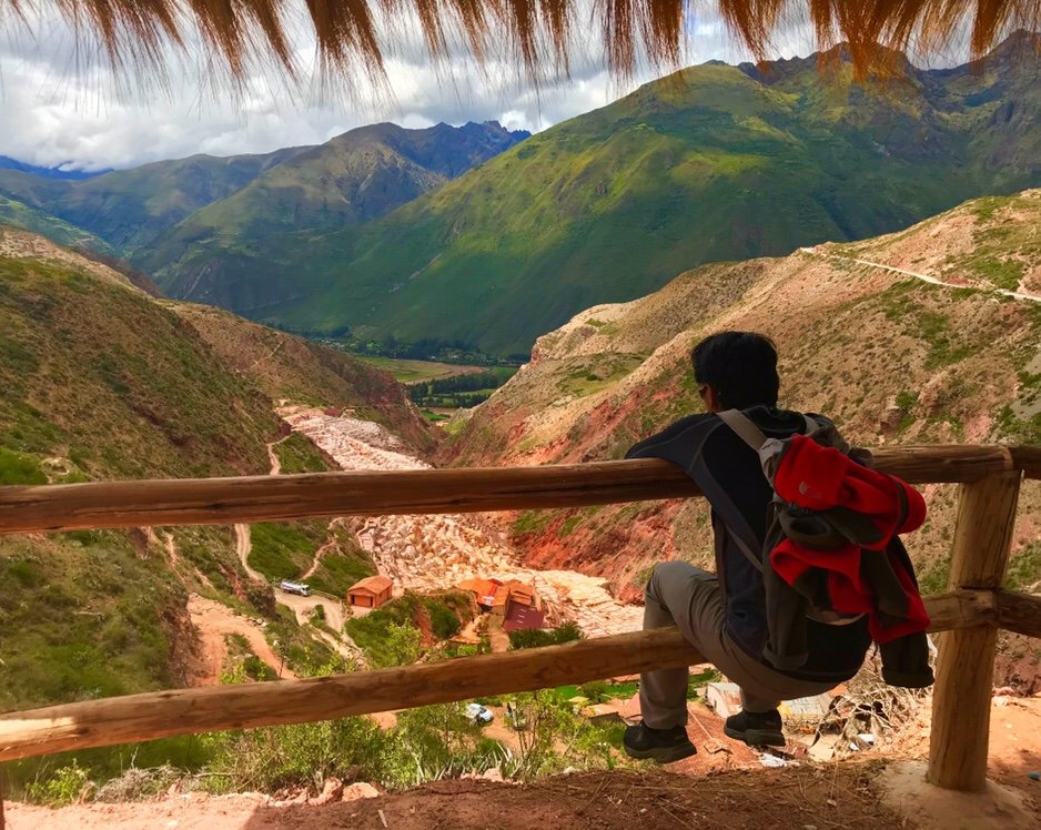 Overlooking the Salt Ponds in the Sacred Valley